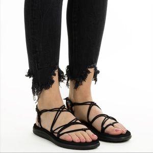 Teva Thong Stretch Cord Slingback Sandals Sz9